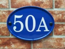Medium Oval House Number Sign – 230mm x 165mm; 9 inches x 6.5 inches